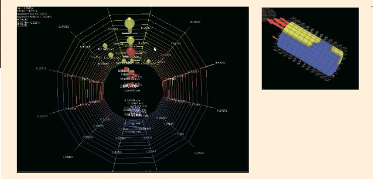 Рис. 35. Построение 3D-модели потока ГЖС в ПО MAPS View