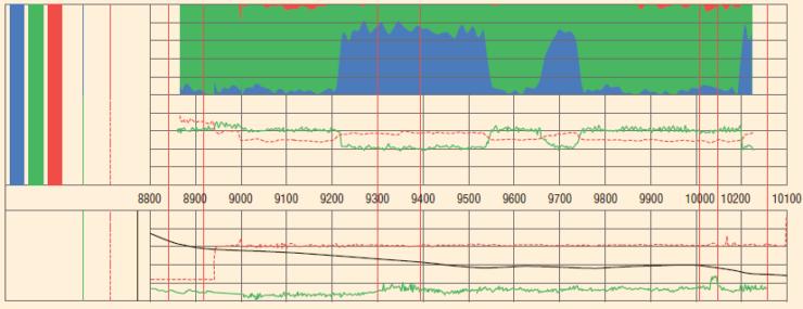 Рис. 36. Пример интерпретации данных RPM