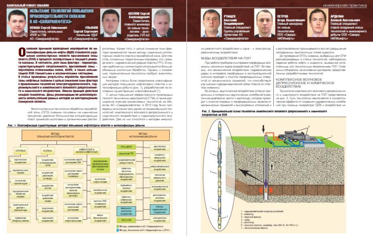 Испытание технологий повышения производительности скважин в АО «Самаранефтегаз»