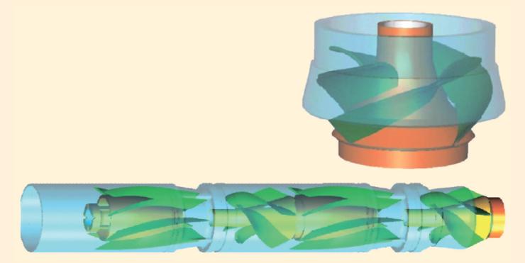 Рис. 7. Оптимизация конструкции элементов газосепараторов и мультифазных насосов