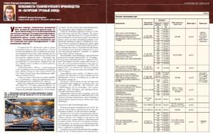 Особенности технологического производства АО «Загорский трубный завод»