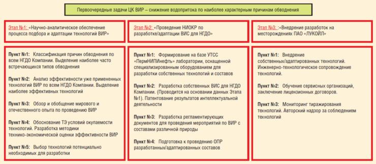 Рис. 2. Постановка задачи ЦК ВИР