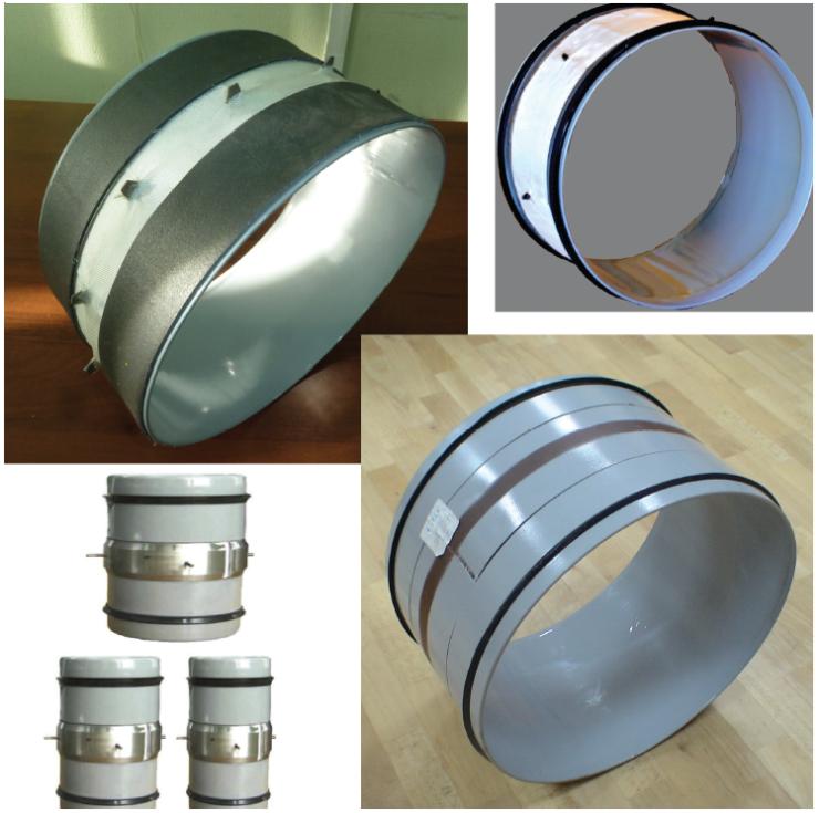 Рис. 2. Втулки для защиты сварных швов трубопроводов с внутренним АКП