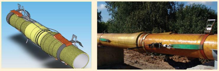 Рис. 1. Монтаж нефтяной трубы
