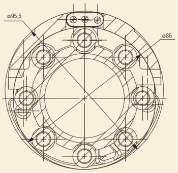 Рис. 7. Габаритные размеры узлов УЭЦН 4У