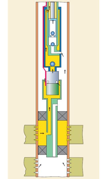 Рис. 2. Схема ЭЦН (ЭВН)+ШГН