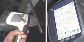 Рис. 8. Сортировка прутков по маркам стали с использованием спектрометра «Альфа-2000»
