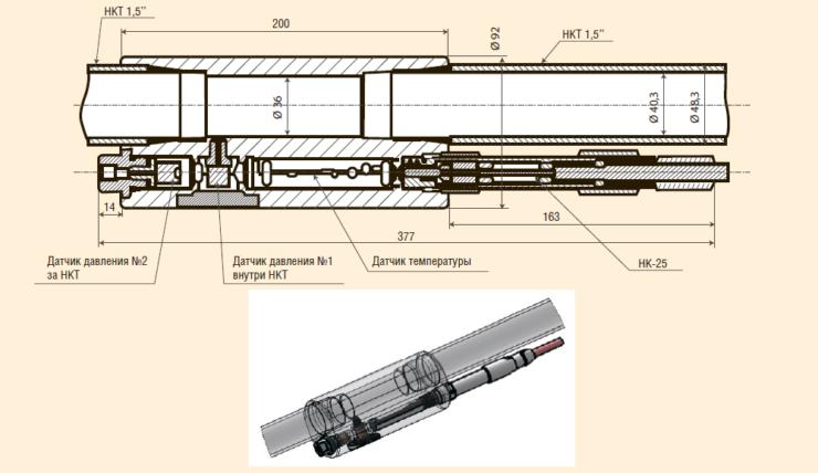 Рис. 12. Конструкция системы постоянного мониторинга (СПМ.АС. «Модуль-Мини»)