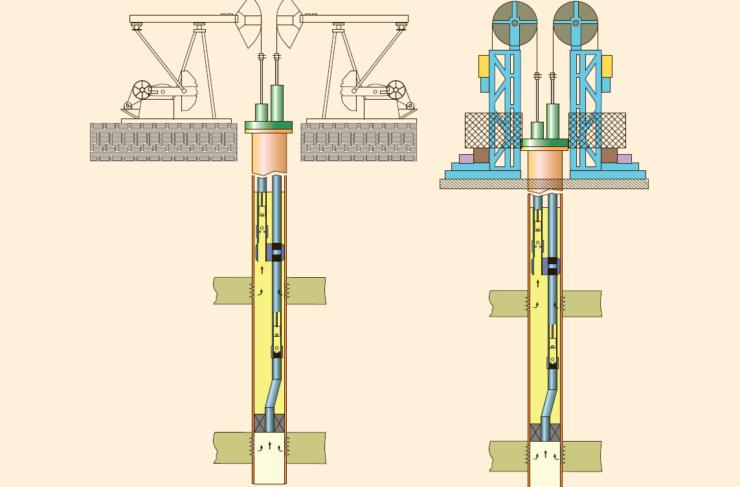 Рис. 5. Двухлифтовая установка для ОРЭ