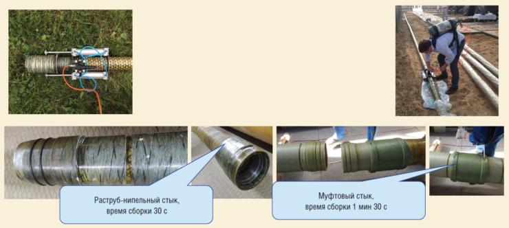 Рис. 6. Мобильные трубопроводы