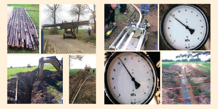 Рис. 11. Строительство водовода высокого давления (проект компании PGNIG)
