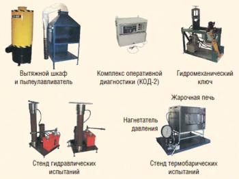 Рис. 1. Оборудование для тестирования и ремонта ТМС