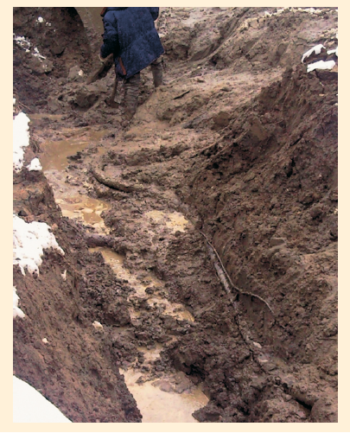 Рис. 11. Выход нефтепровода из проектного положения, ООО «ЛУКОЙЛ-Калининградморнефть»