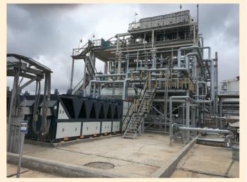 Рис. 4. Росташинская установка утилизации газа с чиллером