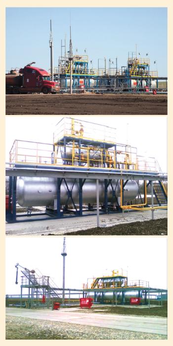 Рис. 5. Малогабаритная блочная сепарационно- насосная установка (МБСНУ)