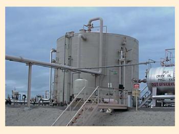 Рис. 5. Защита нефтяного резервуара с помощью эпоксидного материала PLASITE 4500 FS