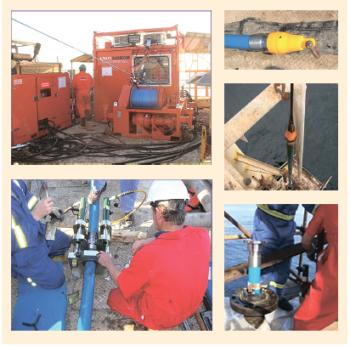 Рис. 7. Протягивание Thermoflex через стальную трубу (проект Crescent Petroleum)