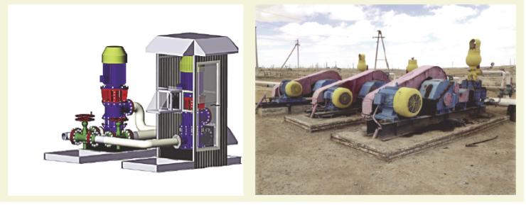 Рис. 13. Применение подпорных электронасосных агрегатов в качестве замены насосов НБ-125