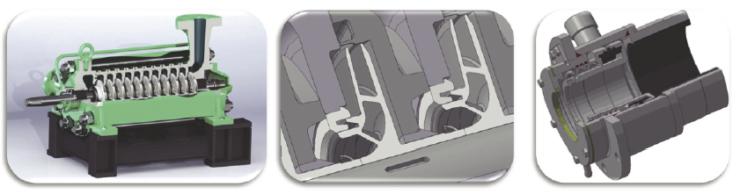 Рис. 3. Конструктивные особенности насосных агрегатов закрытого типа