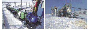 Рис. 8. Опытно-промышленная установка кустового сброса воды и утилизации попутного нефтяного газа