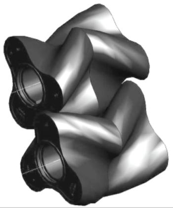 Рис. 8. Трехконечный ротационные поршень
