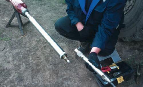 Рис. 11. Блок датчиков суммарного потока PTC с узлом для подключения геофизического кабеля