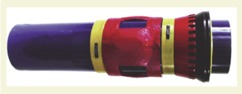 Рис. 12. Устройство манжетного цементирования с использованием резиновых и водонабухающих манжет