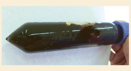 Рис. 2. Проба нефти из скважины эйфельского яруса