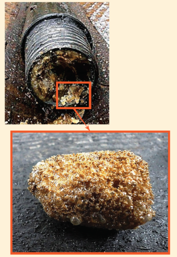 Рис. 4. Гидратообразование при промывках водой