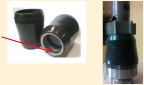 Рис. 6. Армирование герметизирующего элемента скважинного сепаратора металлическим кольцом