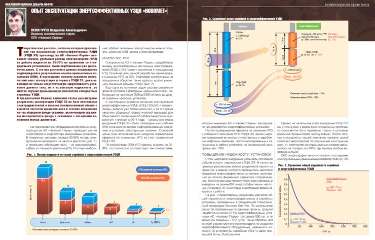 Опыт эксплуатации энергоэффективных УЭЦН «Новомет»