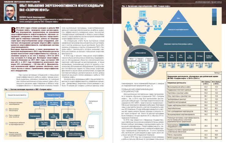 Опыт повышения энергоэффективности нефтегазодобычи ПАО «Газпром нефть»