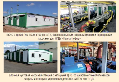 Рис. 10. Примеры реализации проектов по изготовлению и поставке БКНС в 2016 г.