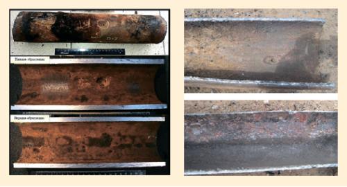 Рис. 4. Коррозионные повреждения трубопроводов ПАО «Оренбургнефть»