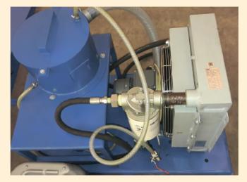 Рис. 9. Система охлаждения узла подвода для разгрузки большой осевой силы