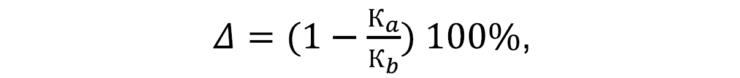 Формула определения относительной погрешности