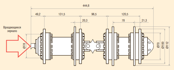 Рис. 2. Линейные размеры малогабаритных внутритрубных диагностических снарядов