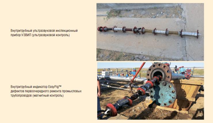 Рис. 14. Оборудование ООО «Интрон Плюс» для внутритрубного контроля стальных промысловых трубопроводов