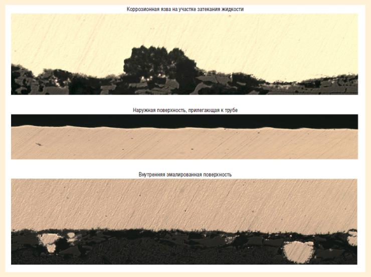 Рис. 15. Состояние поверхностей подкладного кольца