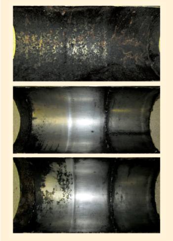Рис. 17. Внешний вид фрагмента трубы из Ст. 20 с нержавеющей втулкой и внутренним покрытием Amercoat 391 PC после эксплуатации