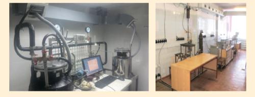 Рис. 2. Лабораторное оборудования для испытаний противотурбулентной присадки Fore FTA