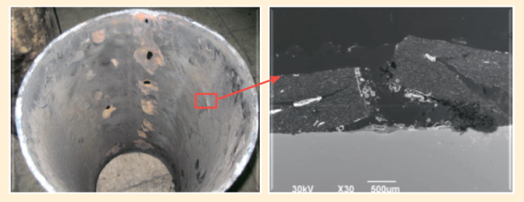 Рис. 3. Нефтесборный трубопровод Ø426х8 мм, Мамонтовское месторождение, НнО – 11 лет
