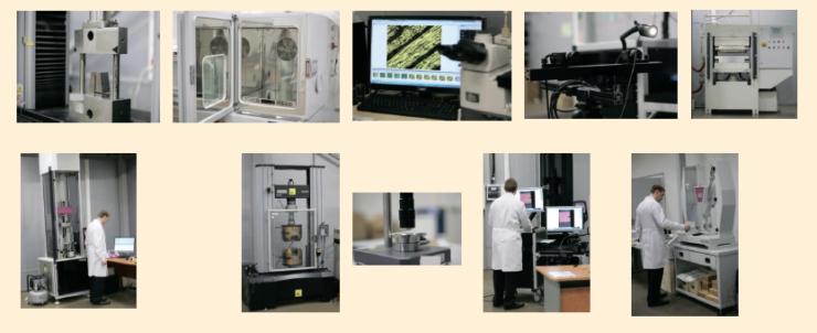 Рис. 4. Испытание стеклопластиковой трубы с системой диагностики на деформацию