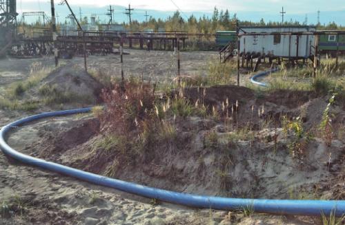 Рис. 4. Подключение мобильного трубопровода к АГЗУ
