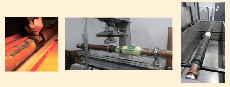 Рис. 5. Методы диагностики трубы при помощи оптико-волоконных и тензодатчиков