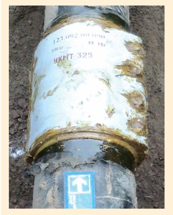 Рис. 7. Установка композитных муфт УКМТ-325 на объектах АО «РИТЭК»