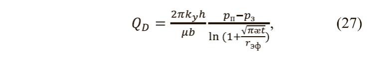 динамика притока жидкости в анизотропном пласте
