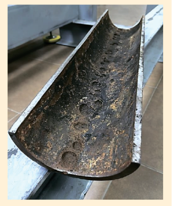 Рис. 1. Характер локальной коррозии для промысловой трубы 89х6 мм из Ст 20, при эксплуатации на нефтепромыслах