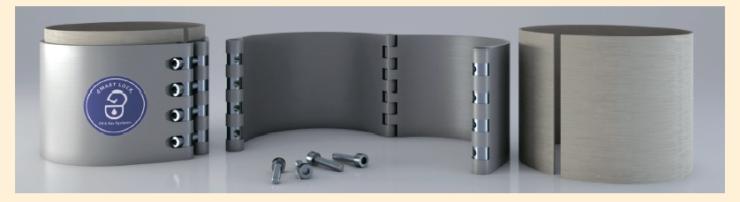 Рис. 1. Усиливающая композиционная муфта для ремонта трубопроводов диаметром 89-1420 мм