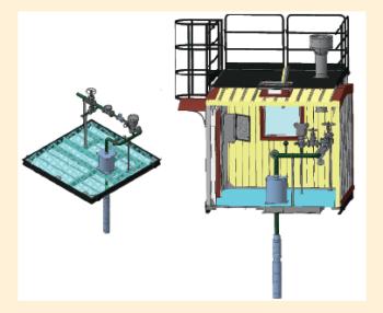 Рис. 10. 3D-модель блока насосной станции, расположенной над артскважиной